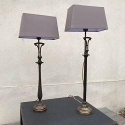 PAIRE DE LAMPES COLONNES...