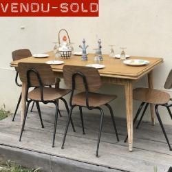 TABLE ROTIN VINTAGE 1960
